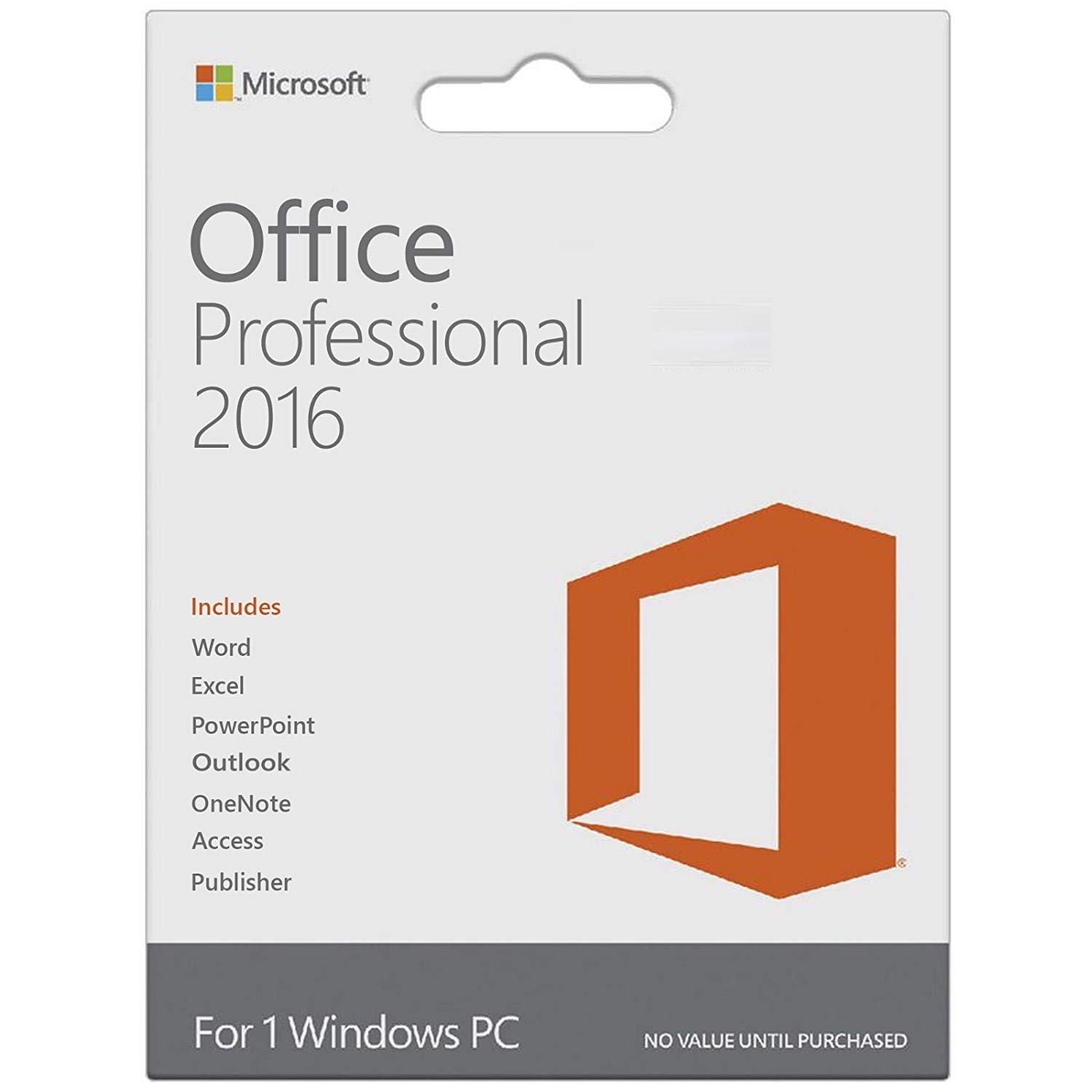 Microsoft Office 2016 Pro Plus |1 User, 1 PC ( Digital License ) VL